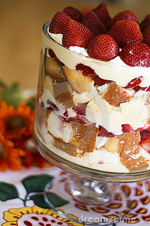 Free Strawberries And Cream Trifle Royalty Free Stock Image - 14328616