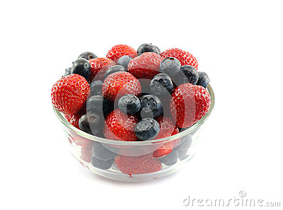 Strawberries And Blueberries In A Bowl Stock Image - Image: 24905691