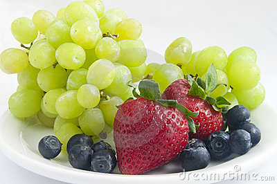 Strawberries and Blueberries and Grapes