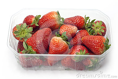 Strawberries in the box