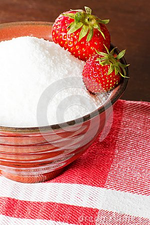 Strawberries in canning sugar