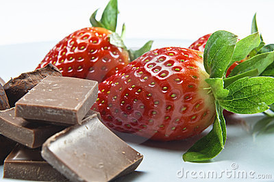 Strawberries, Chocolate Pieces and Truffles