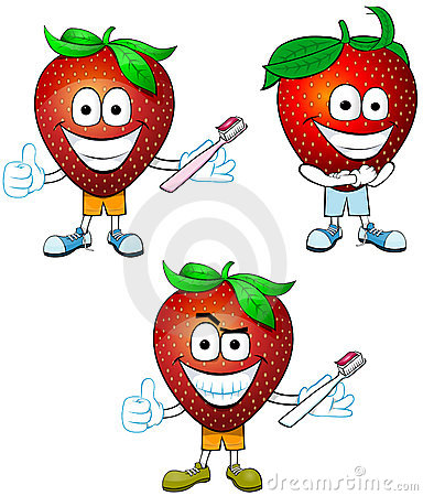 Strawberries with Clean Teeth