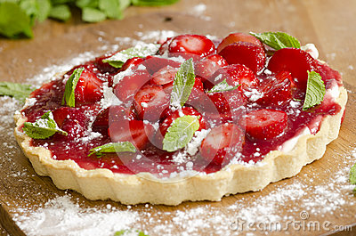 Strawberries And Cream Tart Royalty Free Stock Image - Image: 24680486
