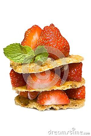 Strawberries dessert