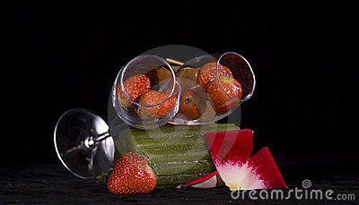 Strawberries in glasses