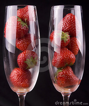 Strawberries in glasses