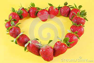 Strawberries heart