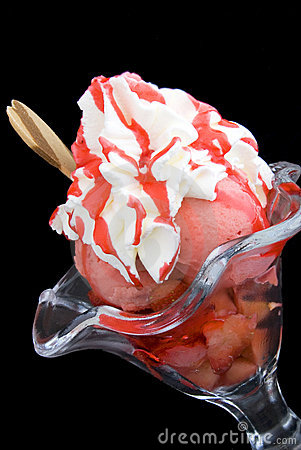 Strawberries ice cream