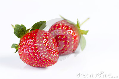 Strawberries in isolated white background
