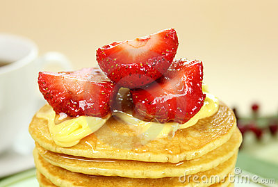 Strawberries On Pancakes