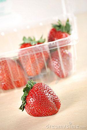 Strawberries in a Plastic Box