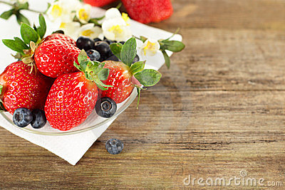 Strawberry and blueberry - healthy food