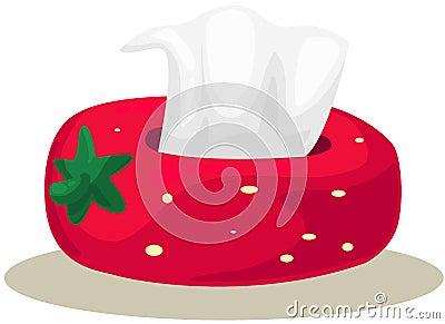 Strawberry box of tissue