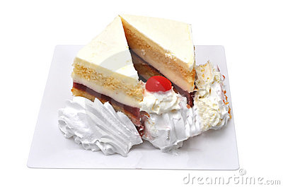 Strawberry Cake Isolated