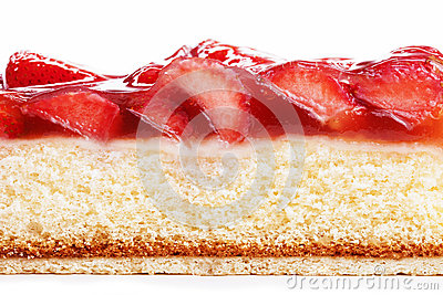 Strawberry cake from side