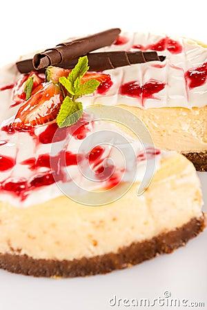Strawberry cheese cake fresh dessert creamy delicious
