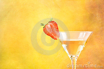 Strawberry and cocktail