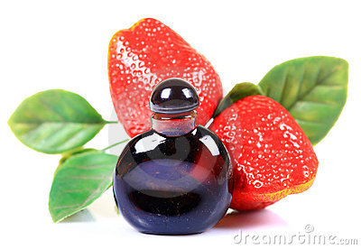 Strawberry concentrate bottle