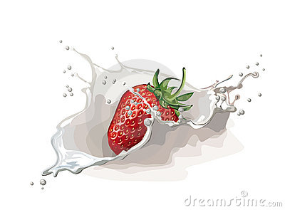 Strawberry with cream
