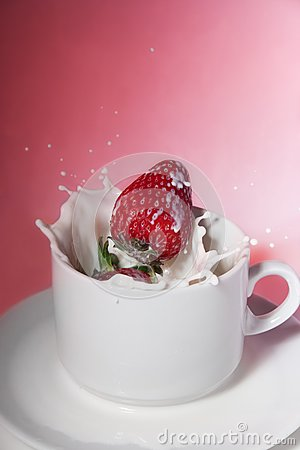 Strawberry in cream