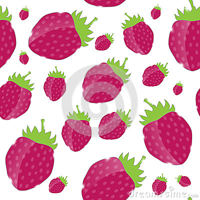 Strawberry, cream abstract hypnotic background.