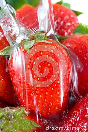 Strawberry falling