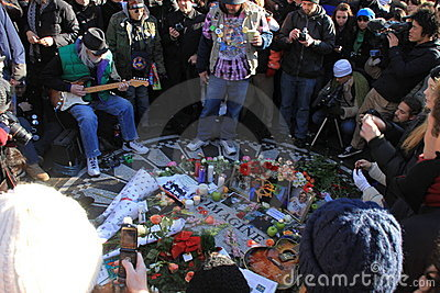 Strawberry Fields, John Lennon memorial Editorial Image