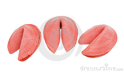 Strawberry flavored fortune cookies