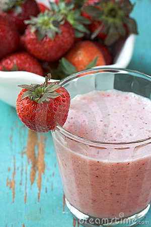 Strawberry fruit smoothie