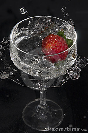 Strawberry in glass no.1