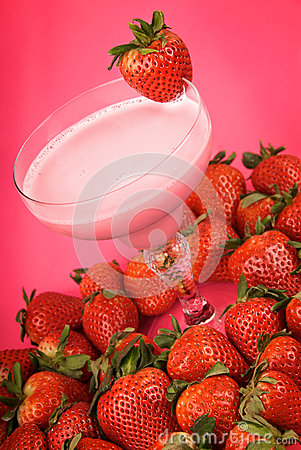 Strawberry health drink