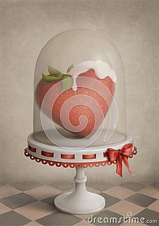 Free Strawberry Heart Stock Image - 12786291