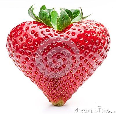 Free Strawberry Heart. Stock Photography - 19205882