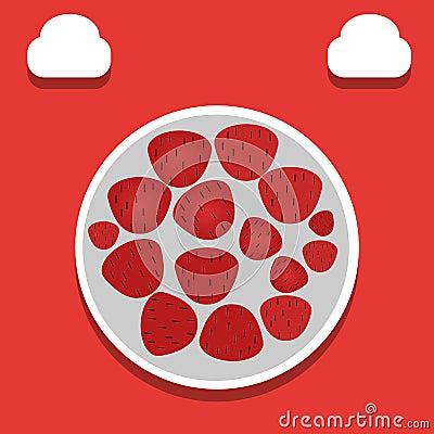 Strawberry illustration - vector Vector Illustration