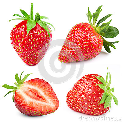 Free Strawberry Isolated On White Royalty Free Stock Images - 91351969