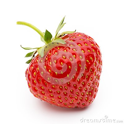 Free Strawberry Isolated On White Background. Fresh Berry. Stock Photography - 100171232