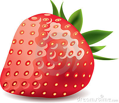 Strawberry isolated on white photo-realistic