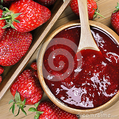 Free Strawberry Jam Or Marmalade Stock Photos - 39848453