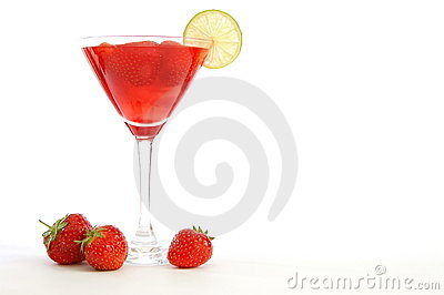 Strawberry juice or cocktail