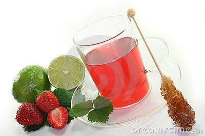 Strawberry lime tea
