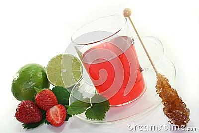 Strawberry lime tea