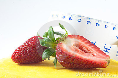Strawberry and meter