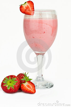 Strawberry milk shake