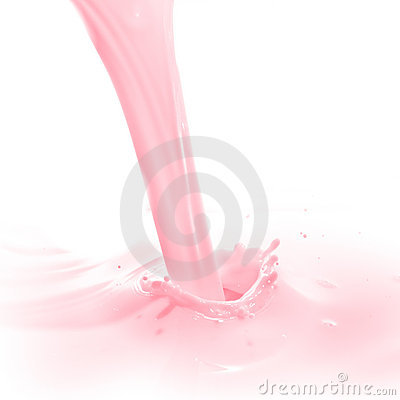 Strawberry milk splash