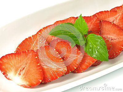 Strawberry with mint