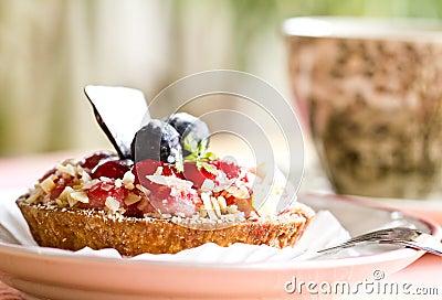 Strawberry Mousse Tart