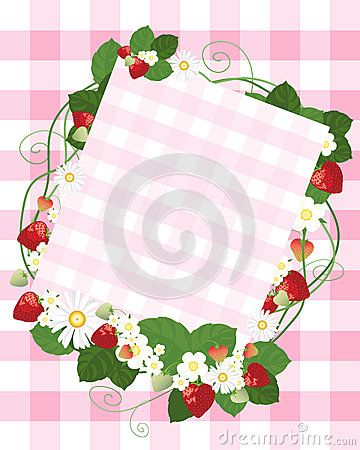 Strawberry notecard