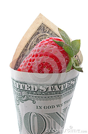 Strawberry in one dollar