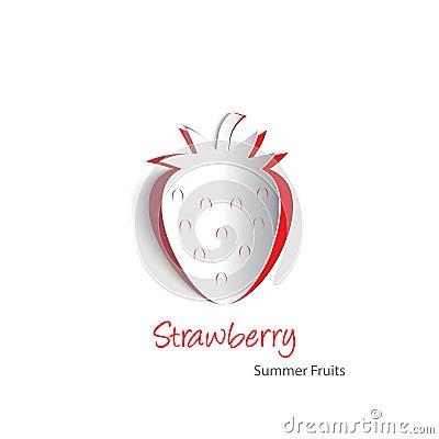 Strawberry paper cutout